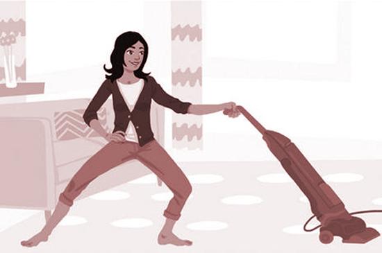 Йога между делом: тренируемся и расслабляемся до, после и во время работы по дому