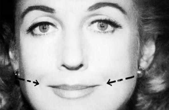 Упражнение для подтяжки нижней части щек и уголков рта (С.М. Рунге)
